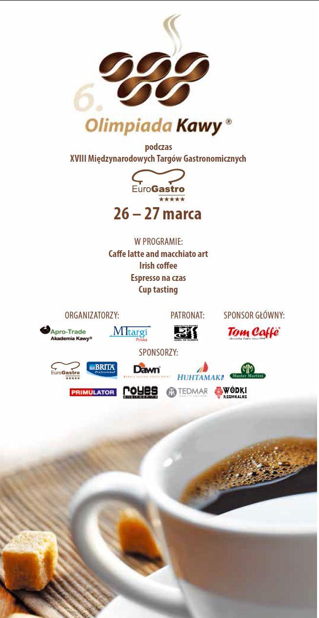 Reklama Olimpiady Kawy Warszawa 26-27 marca 2014