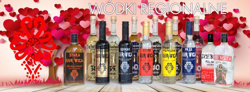 Alkohol na Walentynki Wódki Regionalne Kurnwica Miodonka Warzonka